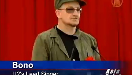 Bono de la U2 a participat la o actiune de plantat copaci in Tokyo