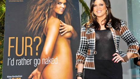 Khloe Kardashian a pozat goala pentru PETA