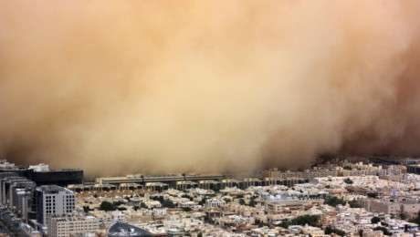 Furtuna de nisip in capitala Arabiei Saudite