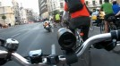 Defilarea biciclistilor bucuresteni de &#8220;Ziua fara masini&#8221;