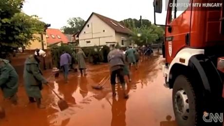 Ungaria: Eforturi de curatare a noroiului rosu