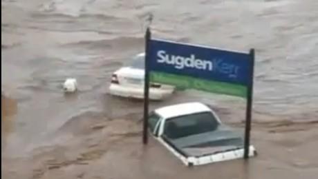 Scene incredibile de la inundatiile din Australia