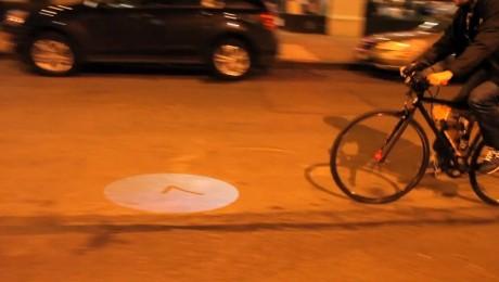Videoproiector pentru bicicleta