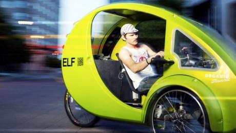Elf, un vehicul de basm. Jumătate bicicletă, jumătate mașină electrică