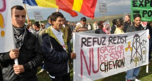 ROMANIA-US-CHEVRON-ENVIRONMENT-SHALE GAS-PROTEST