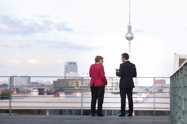 Angela Merkel și Emanuel Marcon pentru Acordul climatic