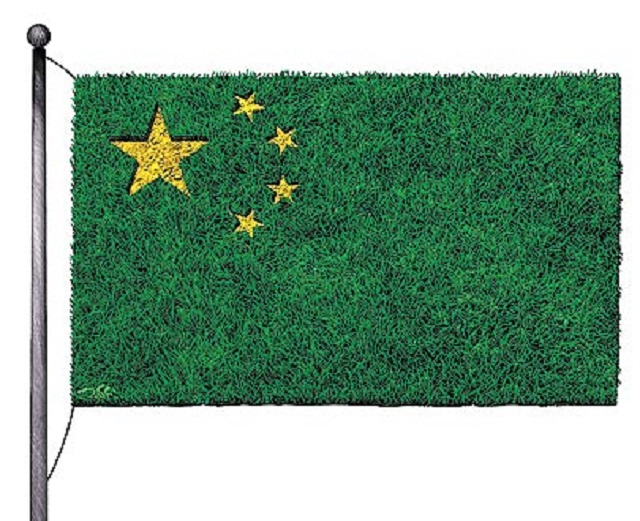 green-chinese-flag