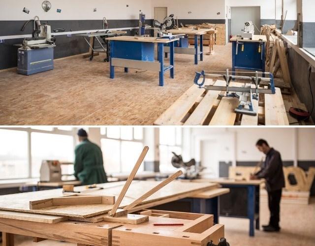 Spațiul pus la dispoziție designerilor, atelier de economie circulară