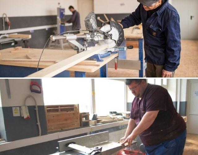 QUIB atelier prelucrare lemn, atelier de economie circulară