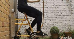 Bicicleta care se mișcă pe verticală, înlocuitoarea liftului