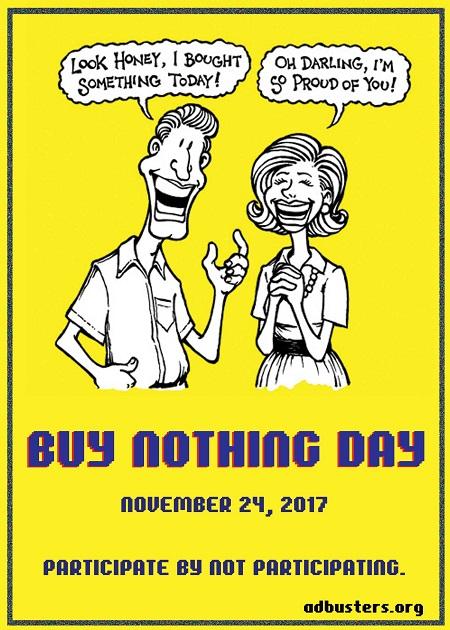 Cum poți să sărbătorești azi, de Buy Nothing Day