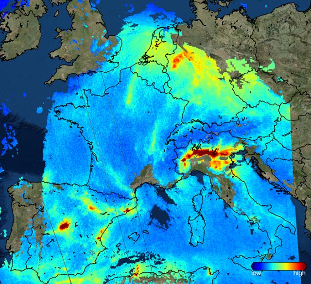 Satelit Sentinel-5P poluare