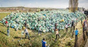 60 de tone de plastic au fost colectate de 23.000 de elevi din 174 de școli