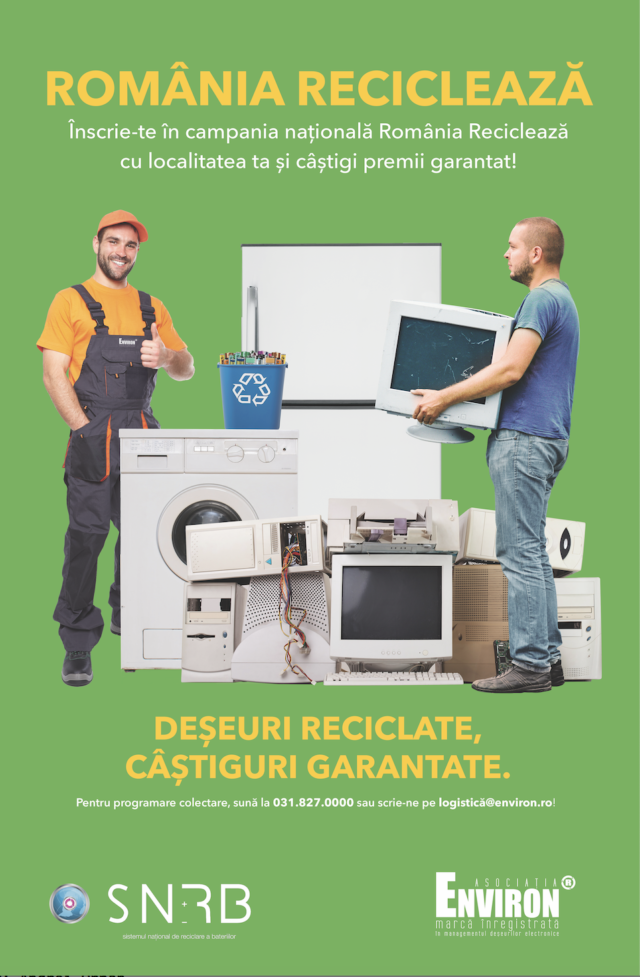 """,,România Reciclează"""" cu Asociația Environ"""