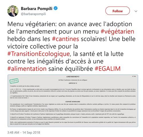 Cantinele școlare din Franța vor oferi meniu vegetarian o dată pe săptămână