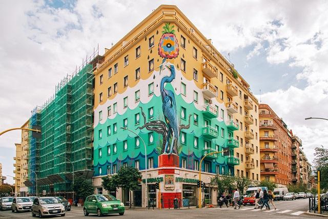 Roma are prima pictură murală din Europa care purifică aerul