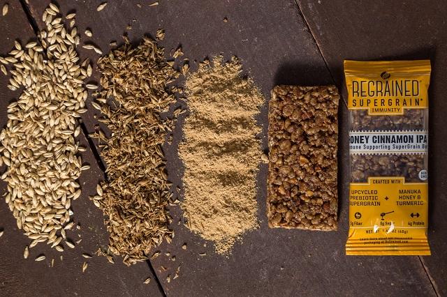 ReGrained - cerealele care sunt folosite pentru bere, transformate în batoane