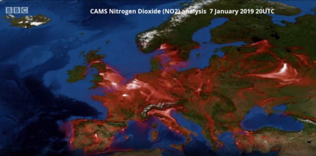 O Hartă Animată De La Copernicus Dezvăluie Deplasarea Aerului